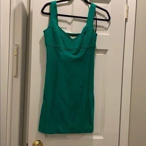 DVF green mini dress.